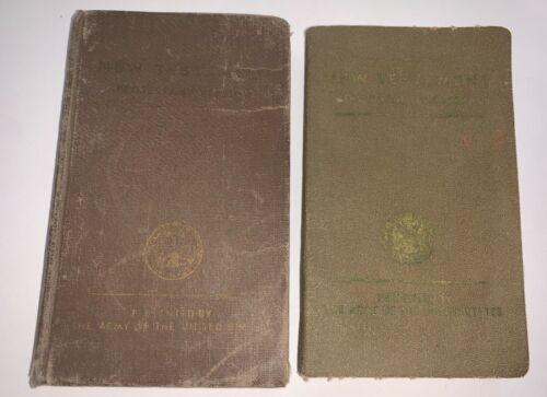 1942 WW2 US  Soldier Military New Testament Bible Franklin Roosevelt Pocket X2