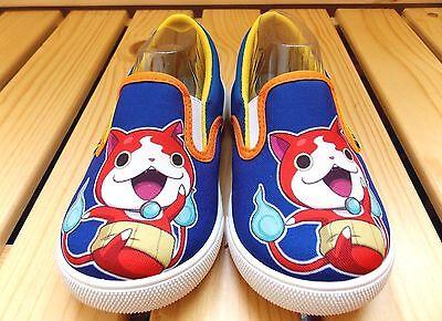 (Japanese Anime YoKai Watch *Jibanyan* Kid's boys Slip-On Shoes YW-8803 Blue)