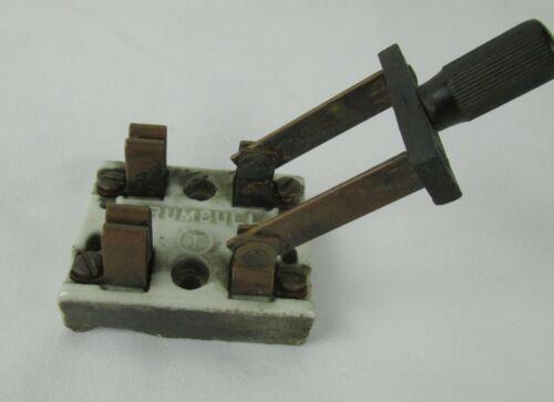 Vintage 709 Trumbull Double Pole Porcelain Knife Switch Steampunk 7/27