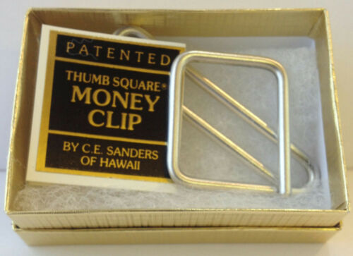 Thumbsquare Sterling Silver Money Clip