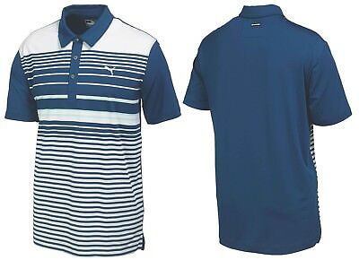 Puma Golf Yarn Dye Stripe Polo Shirt - XS SMALL MEDIUM - 1st Class Post - RRP£45