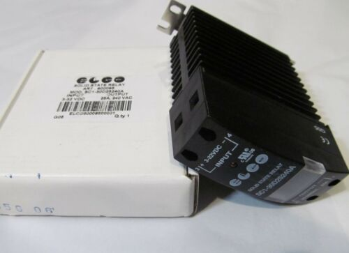 NEW ELCO SC1-30D25240A SOLID STATE RELAY WITH HEAT SINK 25A 240 VAC 3-32 VDC DIN