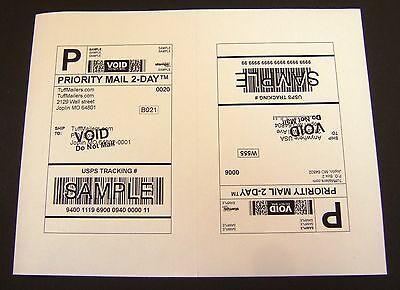 Labels 8.5x5.5 - 2000 Shipping Labels Half-sheet Self-adhesive Usps Ups Fedex