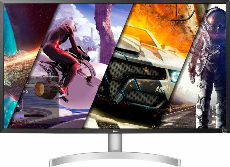 LG - 32UHD (3840 x 2160) HDR Monitor with AMD FreeSync - White