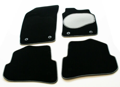 Lexus GS 300 97-05 Carpet Car Mats - Silver / Black Trim & Grey Heel Pad