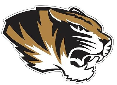 Missouri Tigers Vinyl (University Missouri Tigers NCAA Color Die Cut Vinyl Decal Sticker Choose Size )