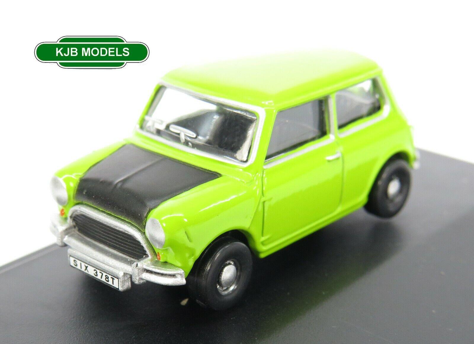 BNIB OO GAUGE OXFORD 1:76 76MN005S Classic Mini Lime Green Car