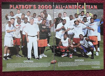 2000 Magazine Photo Page Michael Vick Virginia Tech Football All American Team