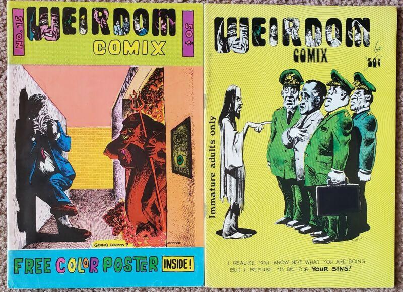 Weirdom Comix 1 & 2 (1972) VERY GOOD Free Shipping!