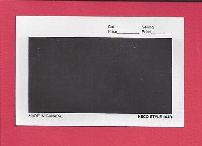 100 HECO or Uni-Safe 104B Display Cards Black Background 4-7/8 x 3-1/4