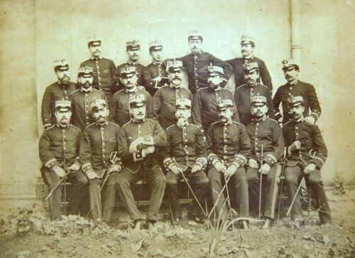 Photography Antique End 19th Officers