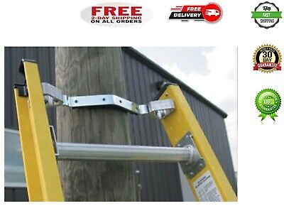 Mount Ladder Stabilizer Fits On Fiberglass Extension Ladders For Wood Metal Pole
