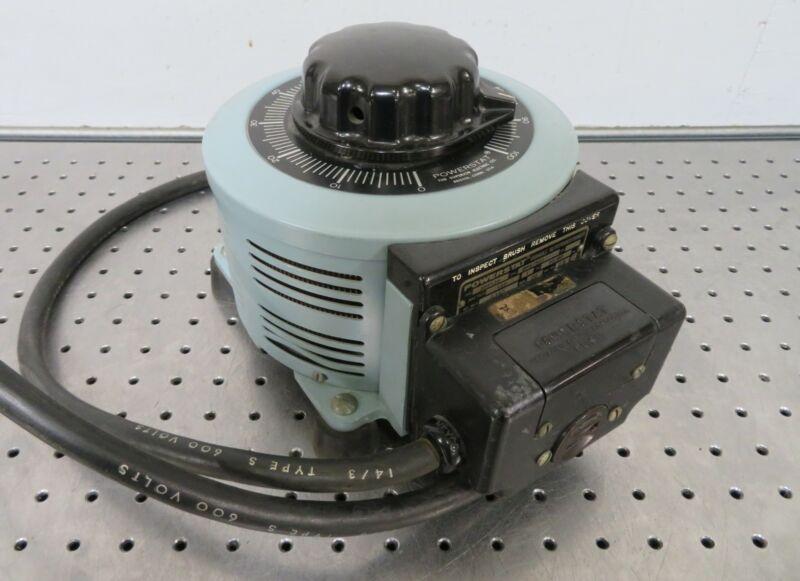 C176610 Powerstat 3PF13 Variable Autotransformer (120Vin, 0-140VAC, 20A, 2.8KVA)