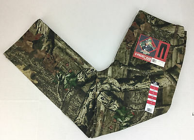 Mossy Oak Women's Camo 5 Pocket Jeans Size 14 NWT Stretch Break Up Brown New