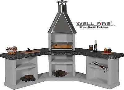 Grillkamin Ardea Küche Edelstahl - WELLFIRE - Aussenküche