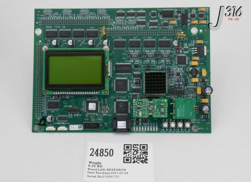 24850 Lam Research Pcb, Node Type 26 W/ Lcd & 50020r-10 810-013872-108