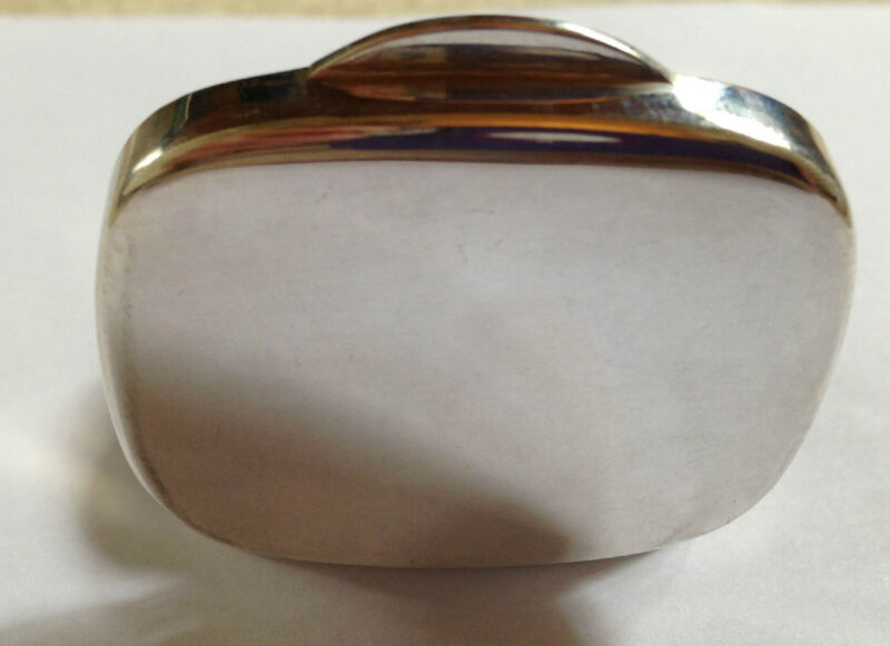 SOLID STERLING SILVER SMALL PLAIN OBLONG PILL BOX