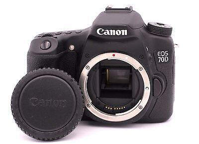Canon EOS 70D 20.2MP Digital SLR Camera - Black (Body Only) - Shutter Count: 687 comprar usado  Enviando para Brazil