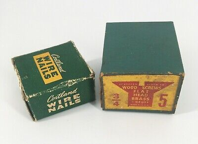 Vintage Empty NAIL & SCREW Boxes Hardware Store Advertising GREAT for Displays