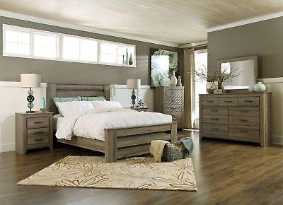 Ashley Furniture Queen Bedding - Ashley Furniture Zelen Queen 6 Piece Poster Bed Set