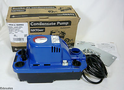 Little Giant 84 Gph 115v Vcmx-20ul Hvac Air Conditioning Condensate Removal Pump