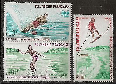 Frz. Polynesien Wasserski-Weltmeisterschaft 1971 Mi 140/142 postfrisch KW 42,00€
