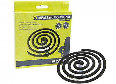 PACK OF 10 MOSQUITO REPELLENT COILS - SANDALWOOD ESSENCE - BBQ - 1ST CLASS POST