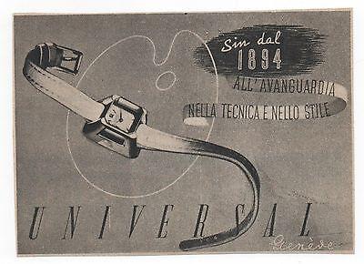 Pubblicità epoca 1948 UNIVERSAL SWATCH OROLOGIO advert reklame werbung publicitè