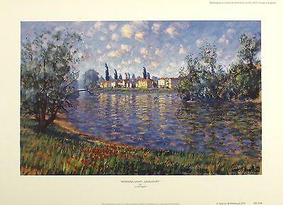 "LIONEL AGGETT ""Morning Light - Lavacourt"" SIGNED LTD ED SIZE:34cm x 47cm NEW"