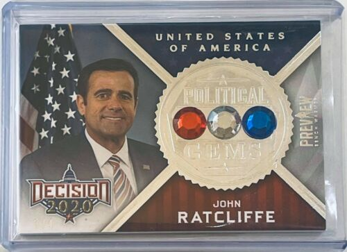 2020 DECISION POLITICAL GEMS SILVER FOIL CARD JOHN RATCLIFFE TEXAS US REP #d 3/4