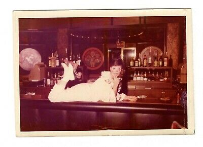 Vintage Photo Pretty Clown Posing On Top Of Bar Young Woman Unique Fun 1970's](Pretty Clown)