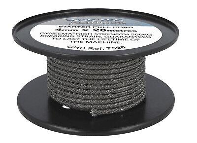 20 Metre Roll, 4mm Diameter. 500kg Breaking Strain Starter Rope Cord