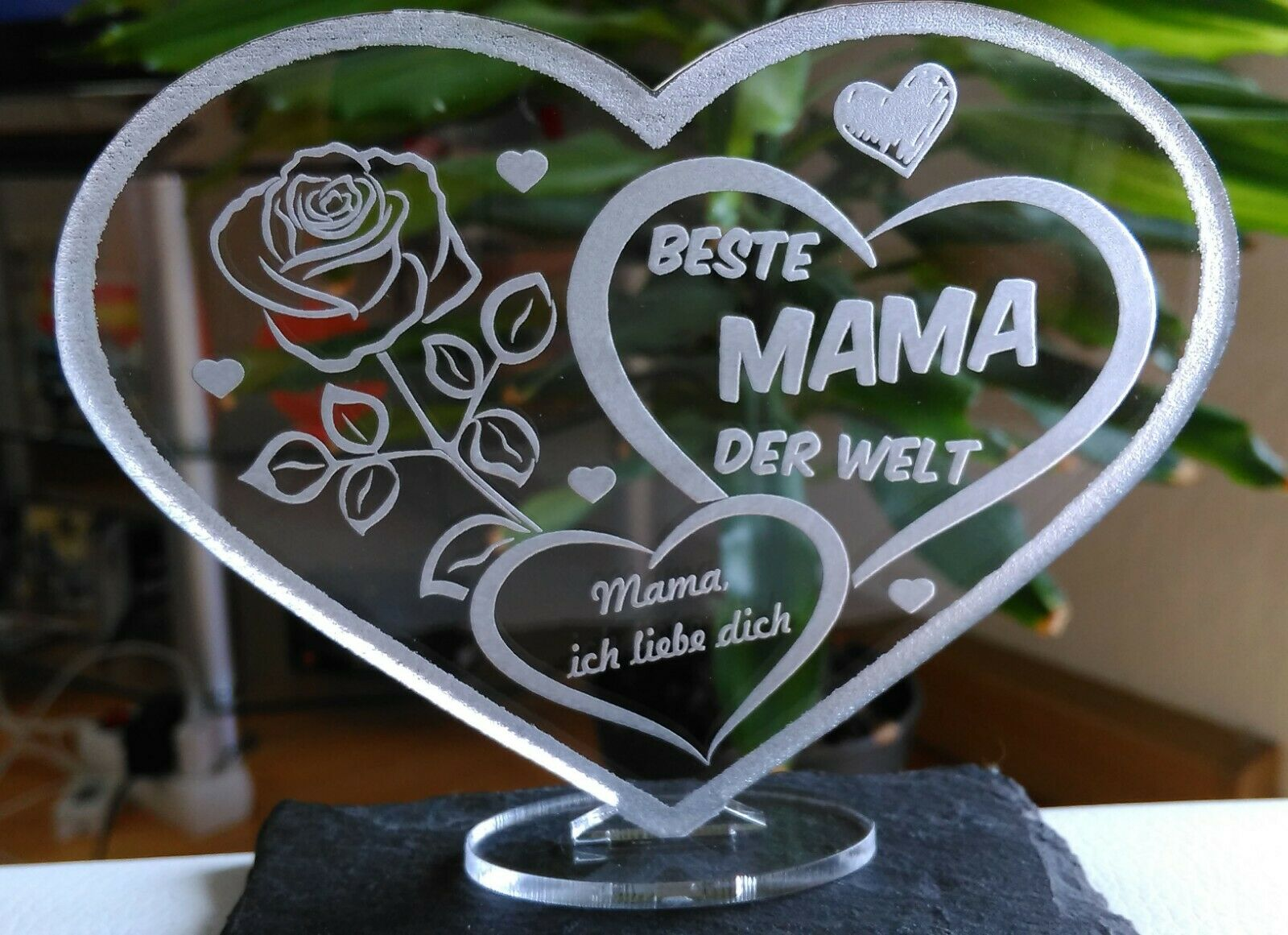 HERZ MUTTERTAG GESCHENK BESTE MAMA ALLES GUTE-ALLES LIEBE GEBURTSTAG GESCHENK