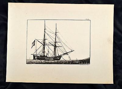 Le Comte 1831 Schepen Schiff Segelboot Sailing boat Ship Marine 2 Master Barca