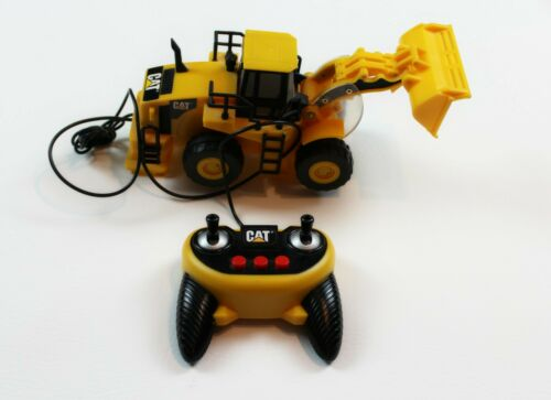 Vintage Caterpillar Remote Control Wheel Loader Yellow Radio Control RC Tested