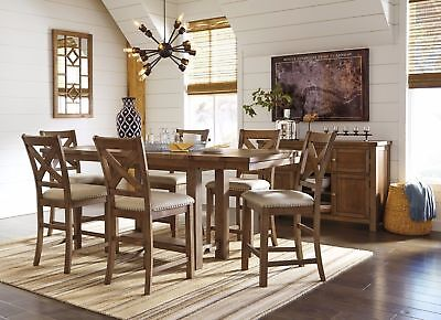 Ashley Furniture Moriville Counter Height 7 Piece Dining Room Set ()