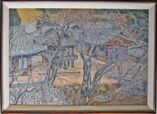 A Large/Fine Korean Landscape Painting by Chang Woon, Lee Yeol  Mo (이열모) (1933-