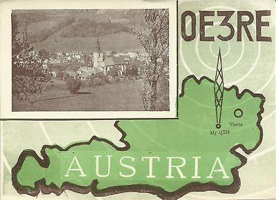 OLD VINTAGE OE3RE AUSTRIA AMATEUR RADIO QSL CARD