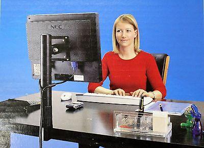 Hansa Monitorhalter Halterung Monitor Monitorhalterung LCD Lichtgrau Neu