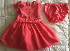 Carters, Coral, Baby Girl Dress, Sz: 9 mths