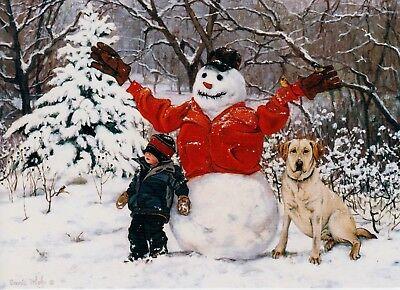 Christmas Snowman Buddies Seasons Greetings Holiday Greeting Cards   ()