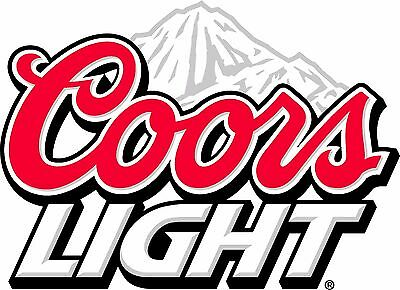 Coors Light Beer Sticker Decal Vinyl Logo 4 stickers
