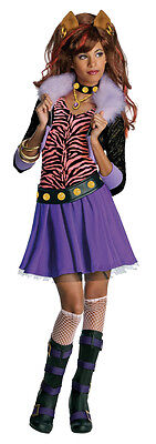 Monster High Kinderkostüm Clawdeen Wolf Perücke Karneval Fasching Kostüm , - Monster High Clawdeen Kostüm