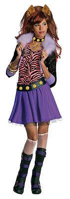 Monster High Kinderkostüm Clawdeen Wolf Perücke Karneval Fasching Kostüm , - Clawdeen Wolf Kostüm Kinder