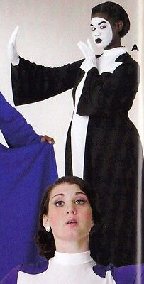 NWT PRAISE DRESS LITURGICAL DANCE Mime black White Cross ch/ladies sizes zpprbck - Mime Outfit