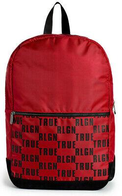 True Religion Men's Logo Block Military Backpack Bag in Ruby