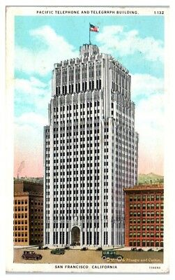 Telegraph Building (1931 Pacific Telephone and Telegraph Building, San Francisco, CA Postcard )