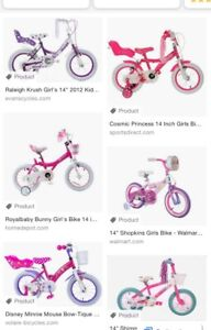 "Looking for 14"" girls bike"