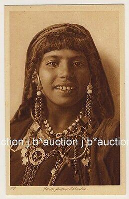 LEHNERT LANDROCK 109 YOUNG BEDOUIN WOMAN VINTAGE 1910S ETHNIC NUDE PC