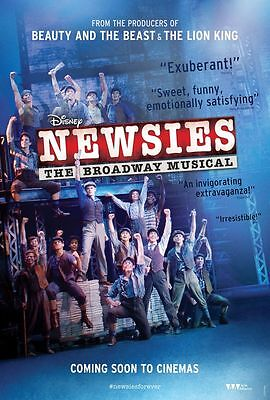 Disneys Newsies The Broadway Musical Movie Poster 18'' X 28''